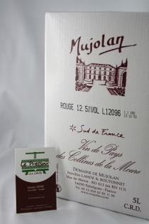 TRADITION RG 5L MUJOLAN 13pourcent IGP LANGUEDOC