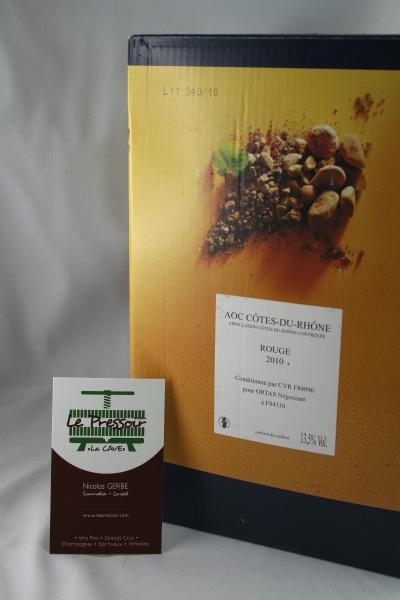 Bib 5 L Côtes du Rhône Rouge 2014  CAVE DE RASTEAU